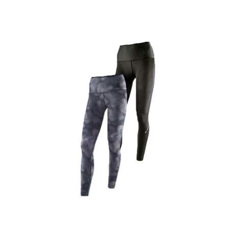 (女) MIZUNO BG9000 緊身長褲-可雙面穿- 慢跑 路跑 抗UV 黑灰