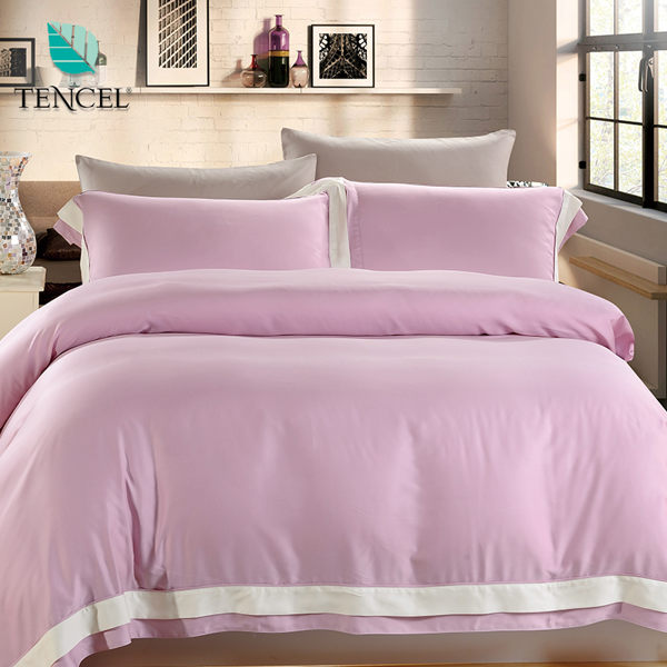 ~鴻宇HongYew~天絲簡約風~紫水晶 雙人四件式薄被套床包組