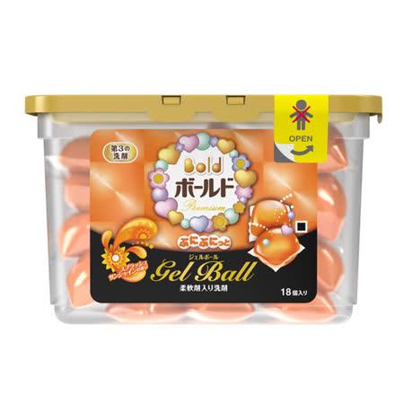 (任選)【日本寶僑P&G】洗衣凝膠球(橘色/燦爛陽光香氛)盒裝(437g/18顆)