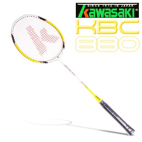 Kawasaki KBC880 碳纖維羽球拍(黃)