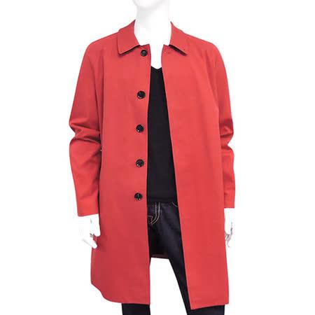 BURBERRY 磚紅色純棉單排釦紳士長版外套(US 40號/L號)
