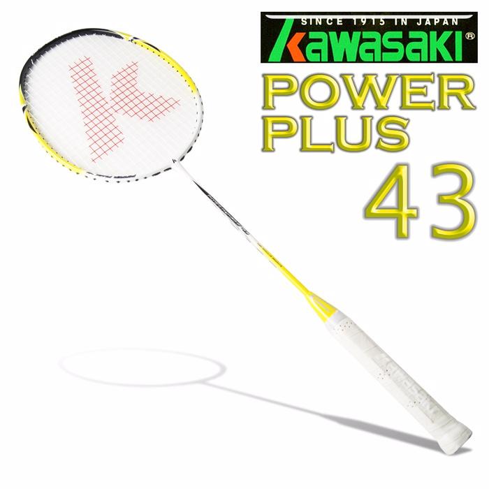 Kawasaki Power Plus 43 奈米碳纖維超輕羽球拍(黃)