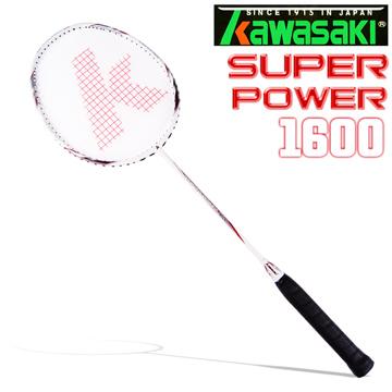Kawasaki Super Power1600奈米碳纖維超輕羽球拍-紅