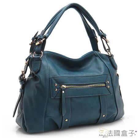 【法國盒子】都會美感造型口袋二用包(寶藍)H279