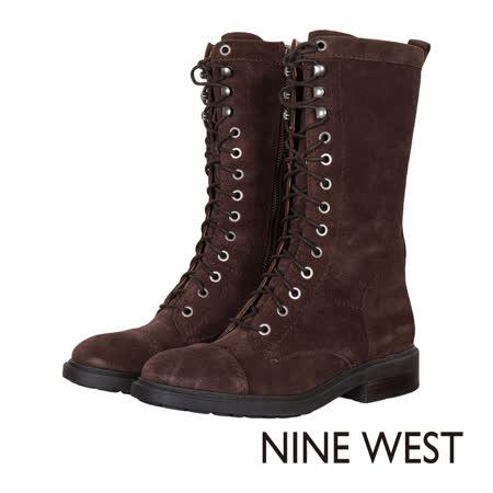 【網購】gohappy線上購物NINE WEST--中性綁帶低跟中筒靴--麂皮咖啡評價好嗎高雄 sogo 百貨