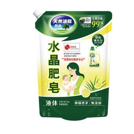 (任選)【南僑】水晶肥皂洗衣用液體補充包1600g