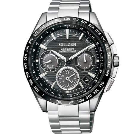 星辰 CITIZEN 光動能【鈦】感光衛星計時腕錶 CC9015-54E