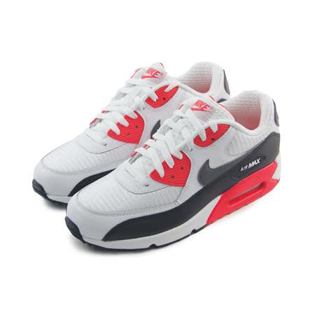 (男)NIKE AIR MAX 90 ESSENTIAL 休閒鞋 白/亮紅/黑-537384126
