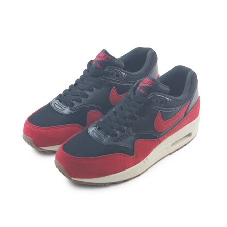 (女)NIKE WMNS AIR MAX 1 ESSENTIAL 休閒鞋 黑/紅-599820018