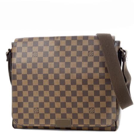【真心勸敗】gohappy 購物網Louis Vuitton LV N41212 District MM 棋盤格紋翻蓋斜背包.大_預購開箱新光 三越 台南 西門 店
