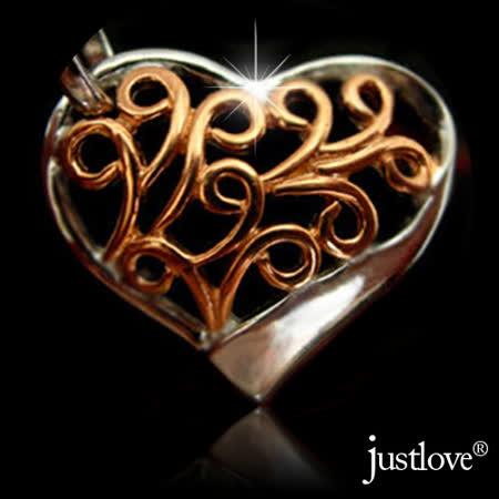 【justlove璀璨配飾】心鎖925純銀項鍊愛心墜子鎖骨鍊(共2色)NL-0019