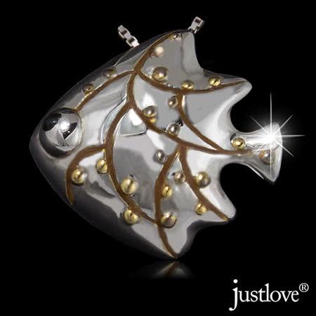 【justlove璀璨配飾】925純銀項鍊熱帶魚造型墜子鎖骨鍊(銀)NL-0024