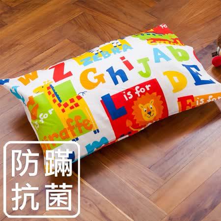 【鴻宇HongYew】兒童透氣多孔纖維枕-動物學英文
