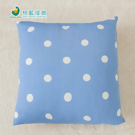 【格藍】印花抱枕套(42x42CM)-蘇打藍