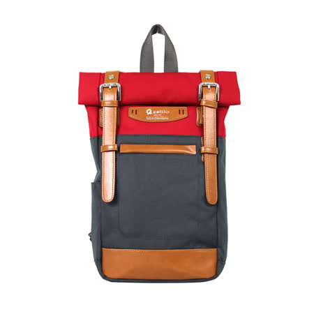 【estilo】時尚玩色系列 撞色設計 兩用單肩包/後背包(紅)