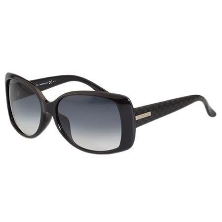 GUCCI 雙G壓紋 太陽眼鏡(黑色)