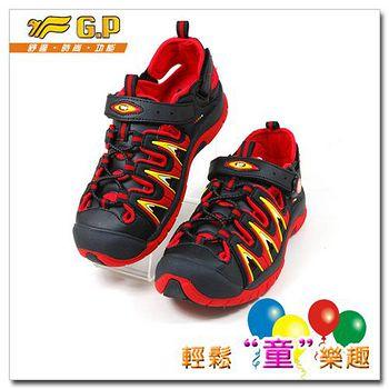 G.P 快樂護趾童涼鞋 G5913B-14-黑紅色
