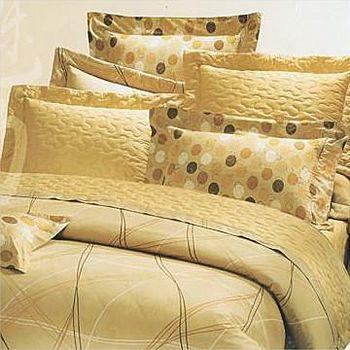 名流寢飾 100%精梳棉雙人加大床包組兩用舖棉被套全套 -線性空間