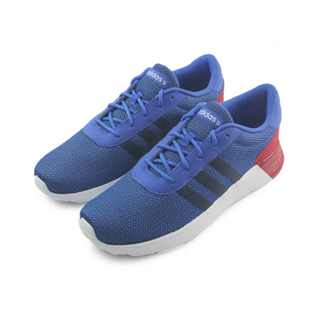(男)ADIDAS LITE RACER 休閒鞋 藍/白/紅-F98303