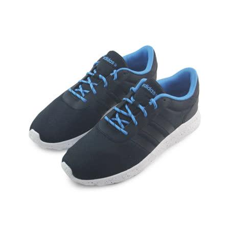 (男)ADIDAS LITE RACER 休閒鞋 黑/藍-F98306
