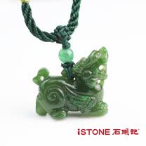 石頭記 納財貔貅墬飾-飛天造形 碧玉