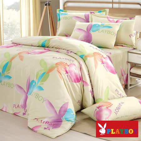 【PLAYBOY】水漾時光 雙人六件式兩用被床罩組