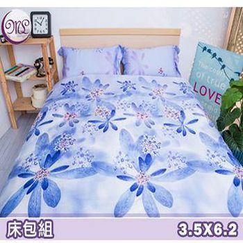 名流寢飾 100%天絲單人加大床包組 -馨香紫花