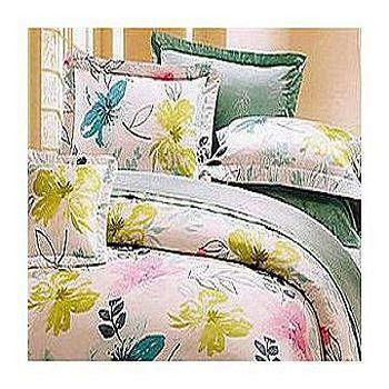 名流寢飾 100%純棉單人加大床包組 -陽光彩墨