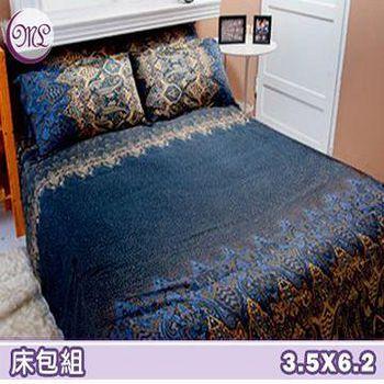 名流寢飾 100%精梳棉單人加大床包組 -星夜天星