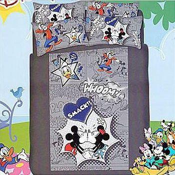 名流寢飾 100%精梳棉迪士尼樂園兩用鋪棉被套床包組 -標準雙人