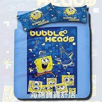名流寢飾 海綿寶寶兩用鋪棉被套床包組 -標準雙人