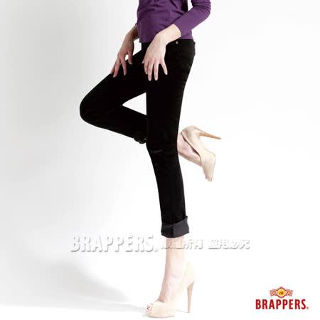 BRAPPERS 女款 新美腳Royal系列-女用中腰彈性鑲鑽AB褲-墨綠