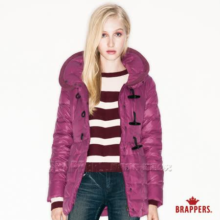 BRAPPERS 女款女用牛角釦羽絨外套-紫紅