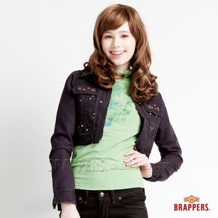 BRAPPERS 女款 短版水洗外套-深灰