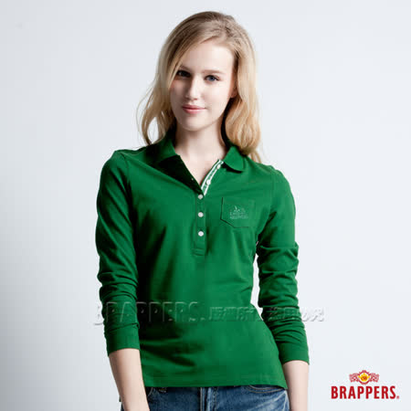 BRAPPERS 女款 胸前小口袋POLO衫-綠