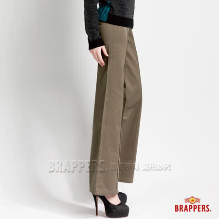 BRAPPERS 女款 女休閒系列-女用大喇叭褲-綠