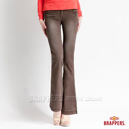 BRAPPERS 女款 新美腳l系列-女用彈性小喇叭褲-咖啡