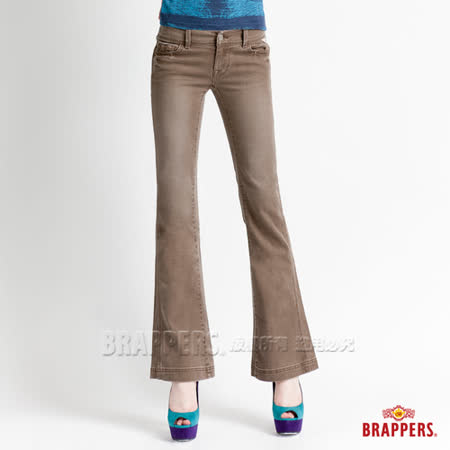 BRAPPERS 女款 新美腳系列-女用彈性小喇叭褲-淺咖啡