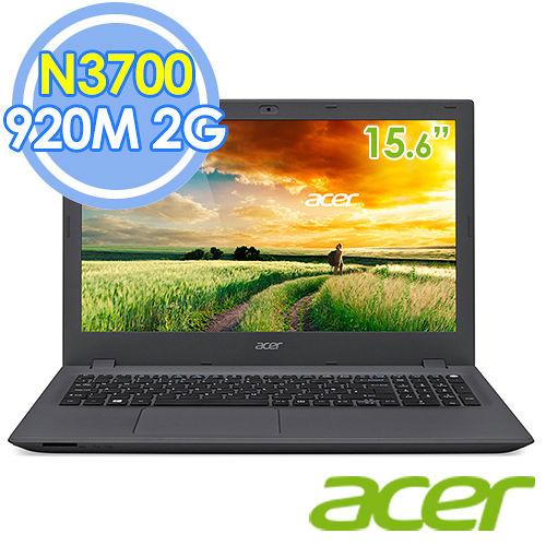 Acer E5-532G-P4YU 15.6吋 N3700 四核 2G獨顯 Win10筆電–送acer環保筷+USB復古鐵製小桌扇