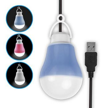 USB LED 隨身照明 帶線聚光燈泡 (白光)