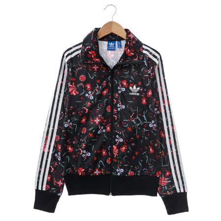 adidas (女)棉質--運動外套-黑-AB2124