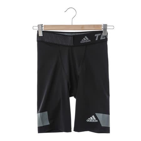 adidas (女)緊身短褲-黑-S19460