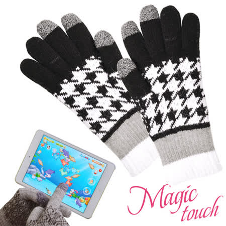 【私心大推】gohappy 購物網【Magic Touch】第三代保暖電容式螢幕觸控手套(千鳥黑白24cm)效果好嗎微風 百貨