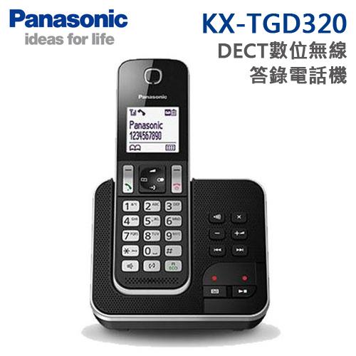 Panasonic國際牌 DECT數位無線答錄電話機(KX-TGD320)*送4合1果凍讀卡機
