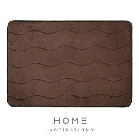 【Home】彈性吸水記憶綿浴墊 - 深褐(43.2x61cm)