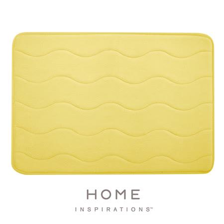 【Home】彈性吸水記憶綿浴墊 - 鵝黃(43.2x61cm)