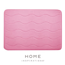 【Home】彈性吸水記憶綿浴墊 - 桃紅(43.2x61cm)