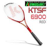 Kawasaki KTSF6900 碳纖維穿線網球拍(紅)