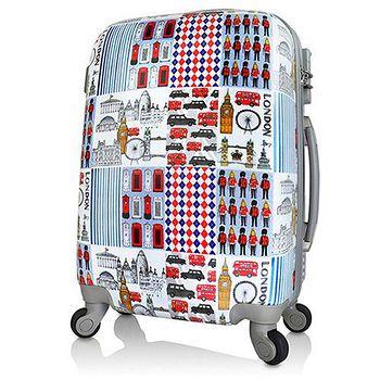 AoXuan 翻玩倫敦20吋PC輕量耐摔行李箱/旅行箱/登機箱 翻玩倫敦