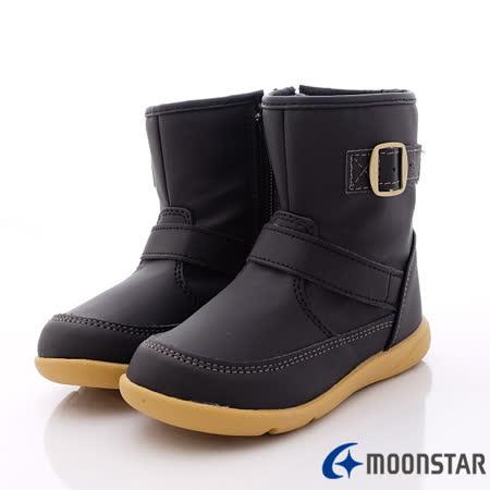 日本Carrot機能童鞋-時尚短靴機能款-C21296黑-(16cm~19cm)